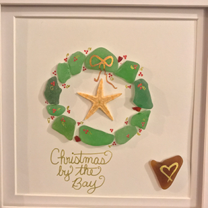 Christmas / Holiday Sea Glass Art
